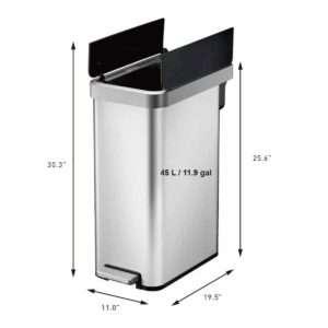dual wing recycling bin
