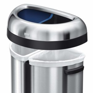 Best Open top dual recycling bin