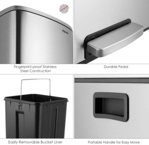 Homfa Dual Step Trash Can