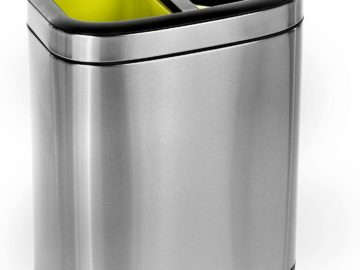 5.3 Gallon Dual Compartment Trash Can