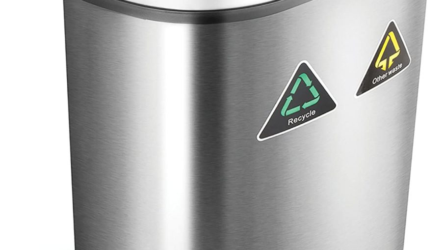 Best NineStars Automatic Dual Compartment Trash Can