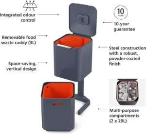 Joseph Joseph Dual Compartment Trash Can Review