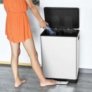 ToiletTree 16 Gallon Dual Compartment Trash Can