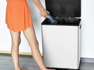 ToiletTree Stainless Steel Dual Compartment Step Trash Can Review