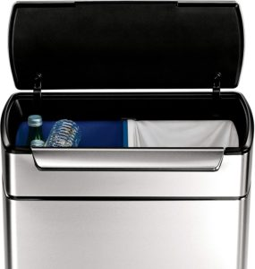 best touch dual compartment bar trash can
