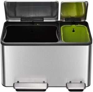 Eco-Casa Dual Compartment Trash Can