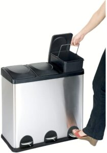 Best 3-Compartment Stainless Steel Trash and Recycling Bin