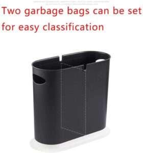 LOMONI 8 Liters Oval Split Trash Can