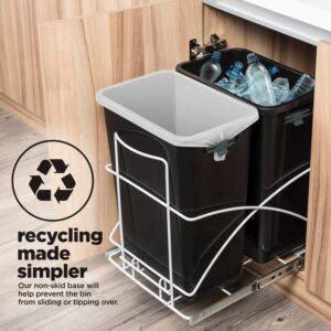 Dual compartment Undercounter kitchen trash can