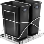 Home Zone Living Dual Compartment Trash Can