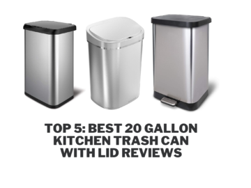 Top 5: Best 20 Gallon Kitchen Trash Can with Lid Reviews