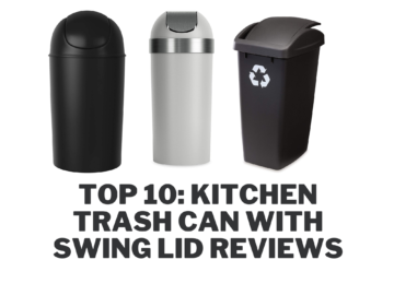Kitchen Trash Can with Swing Lid